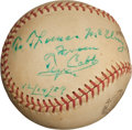 Autographs:Baseballs, 1959 Ty Cobb Single Signed Baseball....