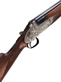 Cased 12 Gauge Merkel 203E Sidelock Ejector Over and Under Shotgun
