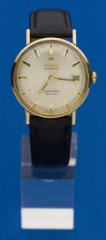 Timepieces:Wristwatch, Omega Automatic 14k Gold Seamaster DeVille Wristwatch. ...