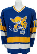 Hockey Collectibles:Uniforms, 1974-75 Ron Busniuk Game Issued Minnesota Fighting SaintsJersey....