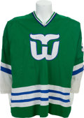 Hockey Collectibles:Uniforms, 1979-80 Gordie Howe Game Worn Hartford Whalers Jersey....
