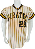 Baseball Collectibles:Uniforms, 1979 Bruce Kison & Bill Robinson Game Worn Pittsburgh PiratesJerseys....