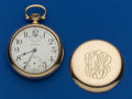 Timepieces:Pocket (post 1900), Waltham Crescent Street 21 Jewel Open Face Pocket Watch. ...