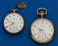 Timepieces:Pocket (post 1900), Longines & Omega 17 Jewel Pocket Watches Runners. ... (Total: 2Items)