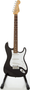 Musical Instruments:Electric Guitars, 2000 Fender American Stratocaster Black Electric Guitar, Serial #Z0027100...