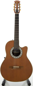 Musical Instruments:Acoustic Guitars, 1997 Ovation Model 1763 Classical Acoustic Electric Guitar, Serial# 337649...