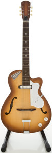 Musical Instruments:Electric Guitars, 1960s EKO Model 100 Modern Honeyburst Semi-Hollow Body ElectricGuitar, Serial # 139988...