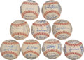 Autographs:Baseballs, 1967 American League Team Signed Baseballs Lot of 9....