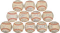 Autographs:Baseballs, 1966 American League Team Signed Baseballs Lot of 12....