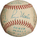 Autographs:Baseballs, 1961 Roger Maris Signed Baseball Used in Batting Practice on Day ofRecord-Breaking 61st Home Run....
