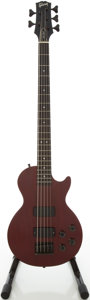 Musical Instruments:Bass Guitars, 1993 Gibson Les Paul Cherry 5-String Electric Bass Guitar, Serial # 92983742...