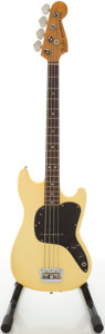 Musical Instruments:Bass Guitars, 1978 Fender Musicmaster White Electric Bass Guitar, Serial # S826388...