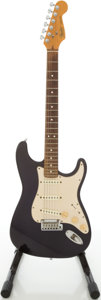 Musical Instruments:Electric Guitars, 1989 Fender Stratocaster Midnight Blue Solid Body Electric Guitar,Serial # E946449...