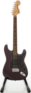 Musical Instruments:Electric Guitars, 2000 Fender Squire Stratocaster Metallic Purple Electric Guitar,Serial # IC00059760 ...