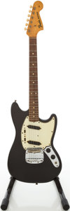 Musical Instruments:Electric Guitars, 1965 Fender Mustang Re-Finished Black Solid Body Electric Guitar,Serial # L92368...