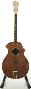 Musical Instruments:Acoustic Guitars, 1950s Kay Kraft Natural Tenor Guitar...