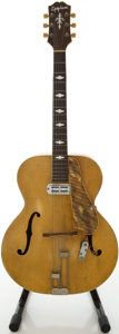 Musical Instruments:Acoustic Guitars, Early 1940s Epiphone Triumph Blonde Archtop Acoustic Guitar, Serial # 17862...