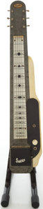 Musical Instruments:Lap Steel Guitars, 1950s Supro Gray MOTS Lap Steel Electric Guitar, Serial # X9719...