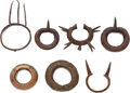 Edged Weapons:Knives, Lot of Seven Assorted African Ceremonial Arm Bands.... (Total: 7Items)