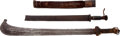 Edged Weapons:Knives, Lot of Two African Ethnographic Knives.... (Total: 2 Items)