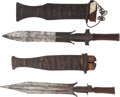 Edged Weapons:Knives, Lot of Two West African Ethnographic Knives.... (Total: 2 Items)