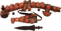 Edged Weapons:Knives, West African Ethnographic Belt and Knife Ensemble.... (Total: 3 Items)