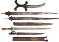 Edged Weapons:Other Edged Weapons, Lot of Five Assorted African Ethnographic Weapons.... (Total: 5Items)