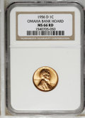 Lincoln Cents: , 1956-D 1C MS66 Red NGC. NGC Census: (1385/51). PCGS Population(936/17). Mintage: 1,098,201,088. Numismedia Wsl. Price: $24...