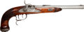Handguns:Muzzle loading, Unmarked European Percussion Salon Pistol....