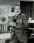 Movie/TV Memorabilia:Autographs and Signed Items, A Walt Disney Signed Photograph, 1960s....