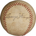 Autographs:Baseballs, 1949 Casey Stengel Single Signed Baseball with Handwritten SignedLetter....