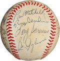 Baseball Collectibles:Balls, Late 1970's Milwaukee Brewers Team Signed Baseball (23 Signatures)....
