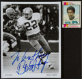 Football Collectibles:Photos, Bob Hayes Signed Photograph and Card Lot of 2....