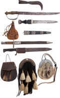Arms Accessories:Holsters, Lot of Assorted Edged Weapons and Scottish Sporrans.... (Total: 10)