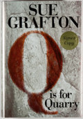 Books:Mystery & Detective Fiction, Sue Grafton. SIGNED. Q is for Quarry. New York: Putnam,[2002]. First edition, first printing. Signed by Grafton....