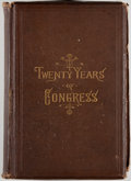 Books:Americana & American History, James G. Blaine. Twenty Years of Congress: From Lincoln toGarfield. Volume I. Norwich: Henry Bill, 1884. First ...