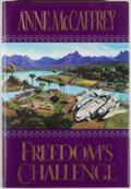 Books:Science Fiction & Fantasy, Anne McCaffrey. SIGNED. Freedom's Challenge. New York: Ace/Putnam, [1998]. First edition, first printing. Signed b...