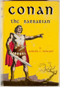 Books:Science Fiction & Fantasy, Robert E. Howard. Conan the Barbarian. New York: Gnome, [1954]. First edition, first printing. Octavo. 224 pages...