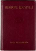 Books:Americana & American History, Lord Charnwood. Theodore Roosevelt. Boston: The AtlanticMonthly Press, 1923. Second impression. Octavo. 232 pages. ...