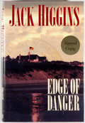 Books:Mystery & Detective Fiction, Jack Higgins. SIGNED. Edge of Danger. New York: Putnam,[2001]. First edition, first printing. Signed by Higgins ...