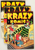 Golden Age (1938-1955):Funny Animal, Krazy Komics #5, 6, and 15 Group (Timely, 1943-44) Condition:Average FN.... (Total: 3 Comic Books)