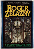 Books:Science Fiction & Fantasy, [Jerry Weist]. Roger Zelazny. SIGNED. A Dark Traveling. New York: Walker, [1987]. First edition, first printing. S...