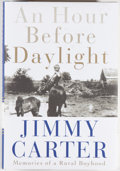 Books:Biography & Memoir, Jimmy Carter. SIGNED. An Hour Before Daylight. New York: Simon & Schuster, [2001]. First edition, first printing...