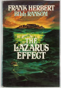 Books:Science Fiction & Fantasy, [Jerry Weist]. Frank Herbert and Bill Ransom. SIGNED BY HERBERT. The Lazarus Effect. New York: Putnam, 1983. First e...