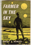 Books:Science Fiction & Fantasy, [Jerry Weist]. Robert A. Heinlein. Farmer in the Sky. London: Gollancz, 1962. First British edition, first printing....