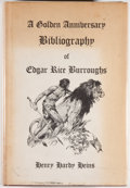 Books:Science Fiction & Fantasy, Henry Hardy Heins [editor]. The Golden Anniversary Bibliography of Edgar Rice Burroughs. West Kingston: Donald M...