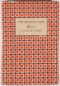 Books:Literature 1900-up, William Everson. INSCRIBED/LIMITED. The Residual Years. [NewYork]: New Directions, [1948]. First edition, limited...