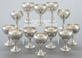 Silver Holloware, American:Cups, A SET OF TWELVE CLEMENS FRIEDELL SILVER GOBLETS . Attributed toClemens Friedell, Pasadena, California, circa 1927-1963. Mar...(Total: 12 Items)