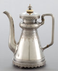 Silver & Vertu:Hollowware, A RUSSIAN SILVER TEA POT . Maker unidentified, Assay master unidentified, Moscow, Russia, 1880. Marks: AK (over) 1880,...