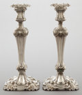Silver Holloware, British:Holloware, A PAIR OF JOHN WATERHOUSE AND EDWARD HATFIELD WILLIAM IV SILVERCANDLESTICKS . John Waterhouse and Edward Hatfield & Co, She...(Total: 2 Items)